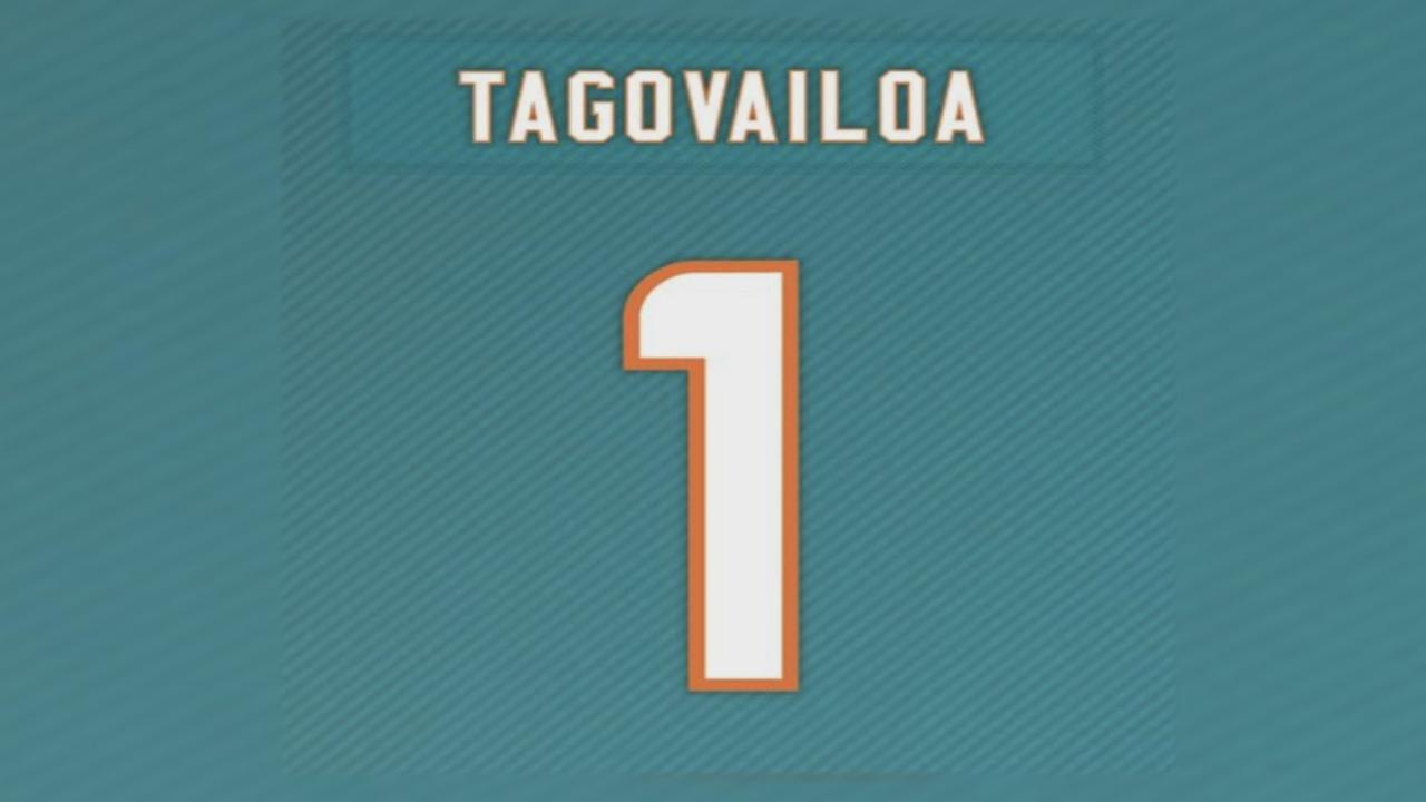 jersey Tua new Miami  number for unveils Tagovailoa
