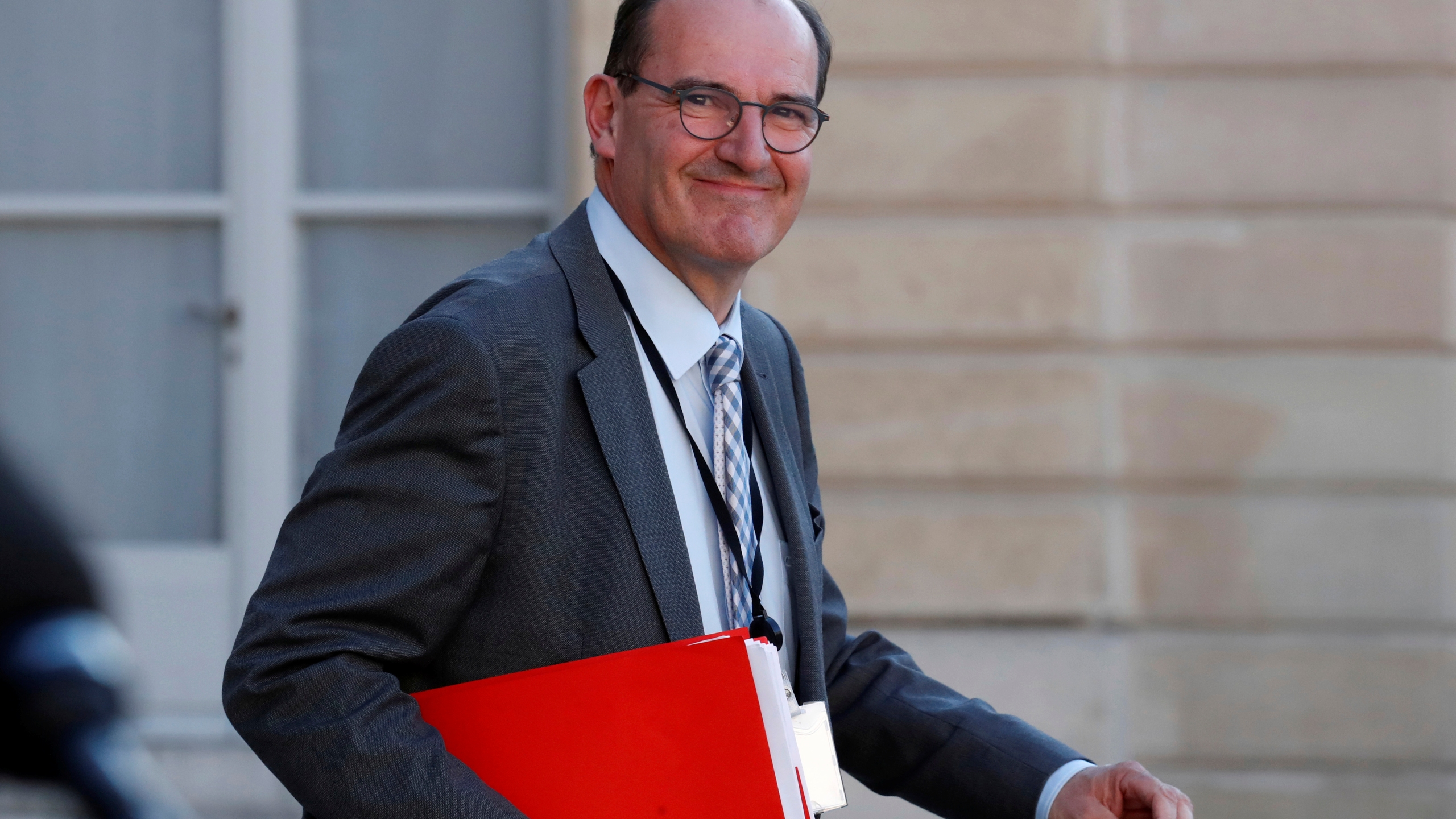 "French government ""deconfinement"" coordinator Jean Castex leaves the Elysee Palace in Paris"