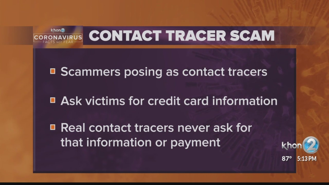 Big Island contact tracer scam