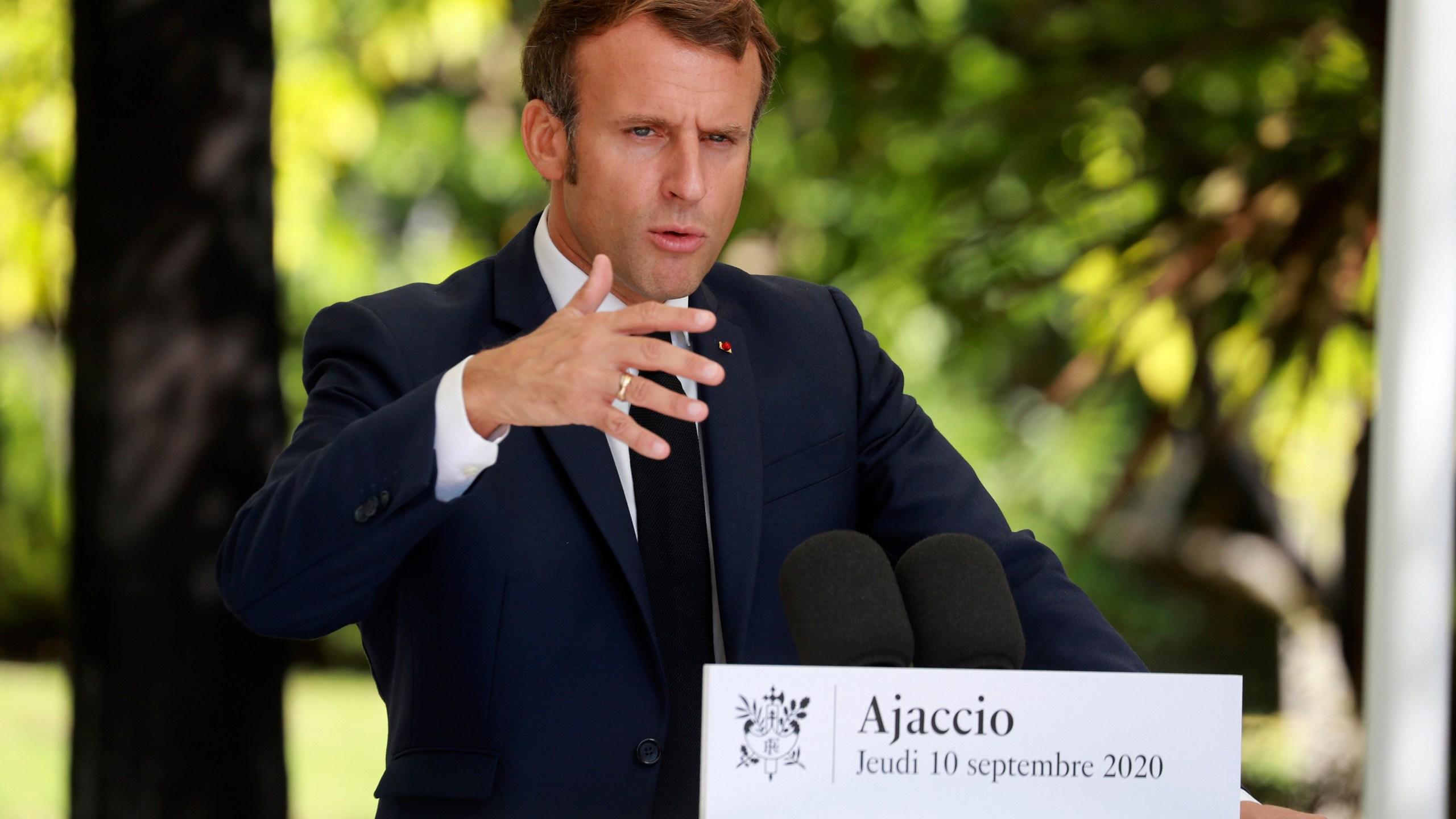 Macron urges tough EU stance against Turkish 'provocations' | KHON2