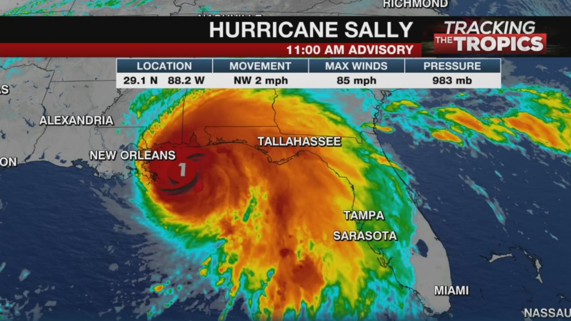 Hurricane Sally Impacts Alabama Florida Coasts Khon2