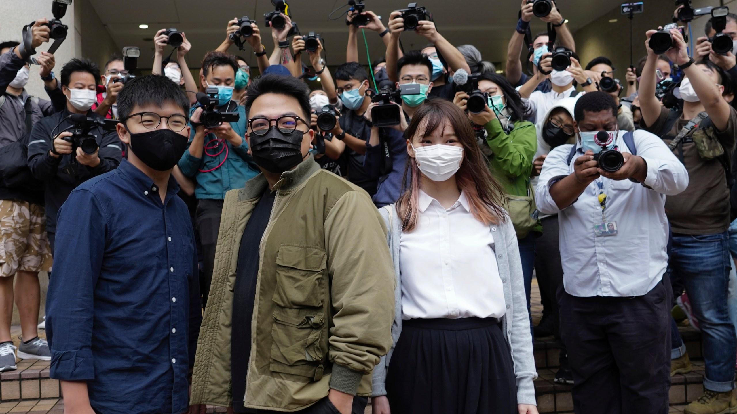 Joshua Wong, Ivan Lam, Agnes Chow