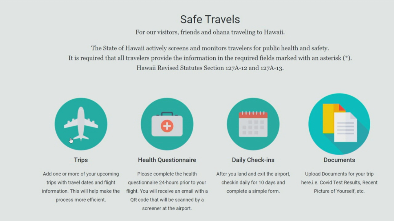 Vaccinated Hawaii residents can upload their information to Safe ...