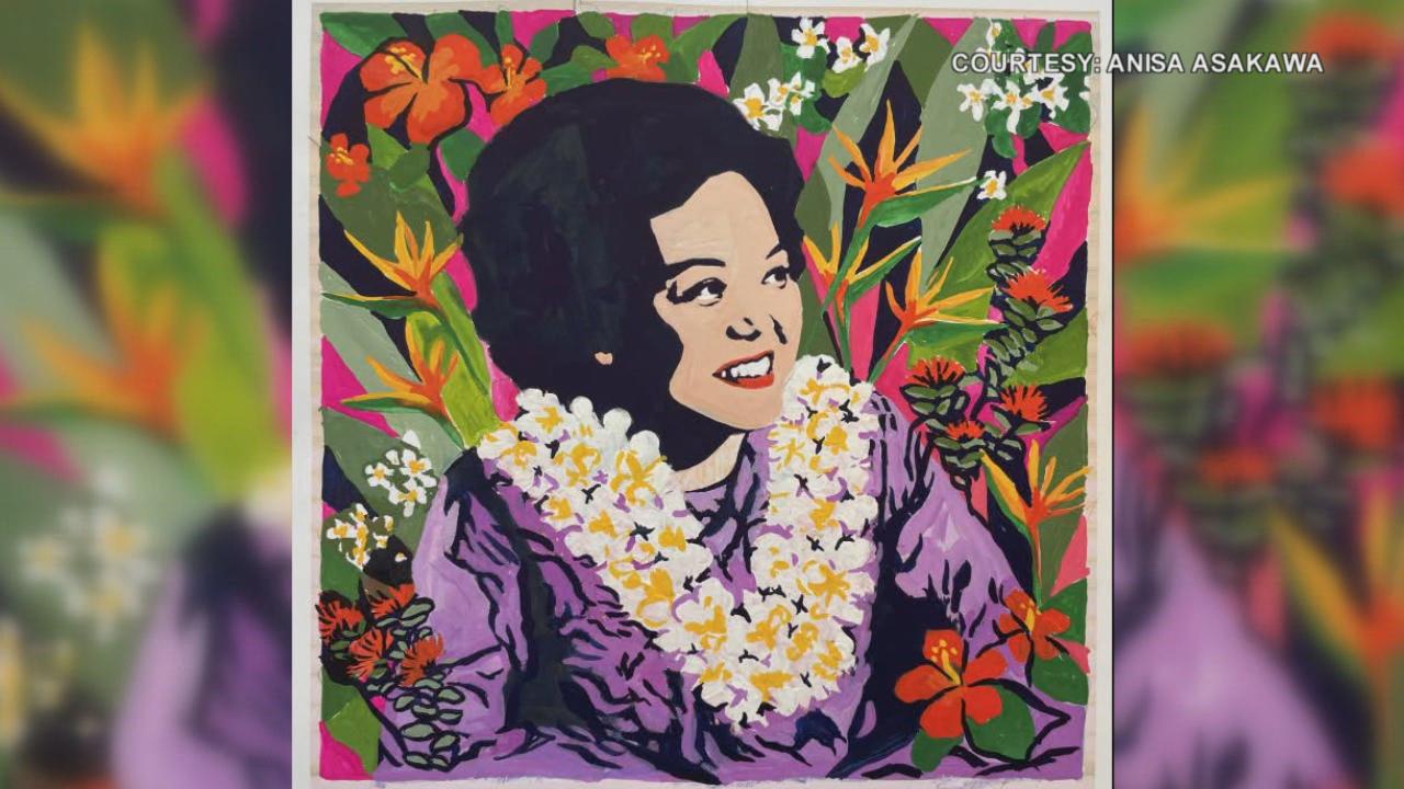 www.khon2.com: Hawaii artist paints mural of Patsy Mink in Portland